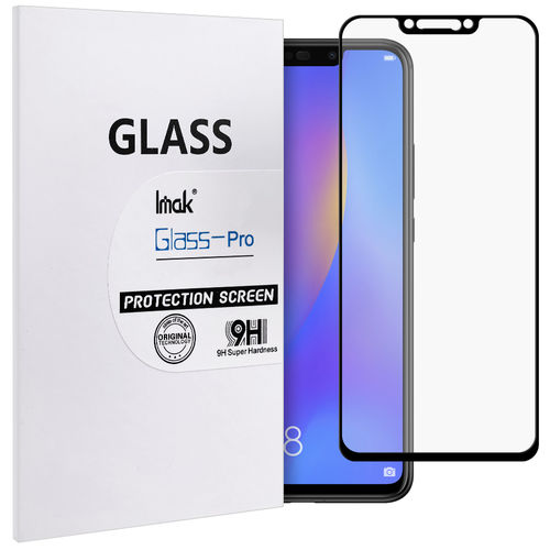 Black Full Coverage Tempered Glass Screen Protector - Huawei Nova 3i